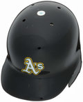 Baseball Collectibles:Others, 2010 Coco Crisp Oakland Athletics Game Worn Batting Helmet....