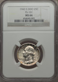 Washington Quarters, 1943-S 25C Doubled Die Obverse, FS-101, MS66 NGC....