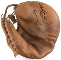 Baseball Collectibles:Others, Joe DiMaggio Signed Catcher's Mitt. ...