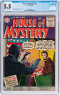 Silver Age (1956-1969):Horror, House of Mystery #51 (DC, 1956) CGC FN- 5.5 Off-white to whitepages....