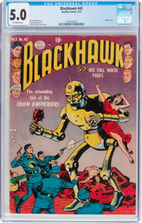 Blackhawk #42 (Quality, 1951) CGC VG/FN 5.0 Off-white pages