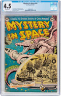 Golden Age (1938-1955):Science Fiction, Mystery in Space #14 (DC, 1953) CGC VG+ 4.5 Off-white pages....