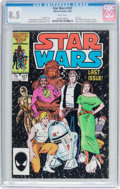 Modern Age (1980-Present):Science Fiction, Star Wars #107 (Marvel, 1986) CGC VF+ 8.5 White pages....