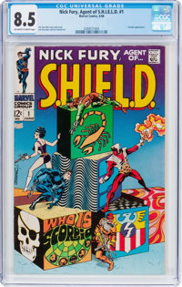 Nick Fury, Agent of S.H.I.E.L.D. #1 (Marvel, 1968) CGC VF+ 8.5 Off-white to white pages