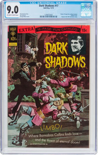 Dark Shadows #17 (Gold Key, 1972) CGC VF/NM 9.0 Off-white to white pages