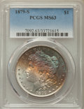 Morgan Dollars: , 1879-S $1 MS63 PCGS. PCGS Population: (21954/74521). NGC Census: (20178/73389). CDN: $55 Whsle. Bid for problem-free NGC/PC...