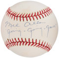 "Autographs:Baseballs, Mel Allen ""Going-Going-Gone!"" Single Signed Baseball...."