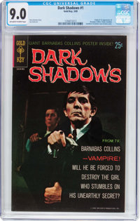 Dark Shadows #1 (Gold Key, 1969) CGC VF/NM 9.0 Off-white to white pages