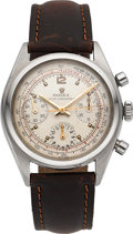 Timepieces:Wristwatch, Rolex Exquisite Stainless Steel Chronograph Ref. 6034, Circa 1952, Originally Purchased at West Point Military Academy Cadet S...