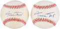 Autographs:Baseballs, Willie Mays Single Signed Baseballs Lot of 2. ...