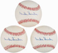 Autographs:Baseballs, Duke Snider Single Signed Baseballs Lot of 3. ...