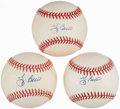 Autographs:Baseballs, Yogi Berra Single Signed Baseballs Lot of 3. ...