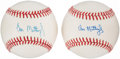 Autographs:Baseballs, Don Mattingly Single Signed Baseballs Lot of 2. ...