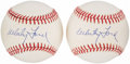 Autographs:Baseballs, Whitey Ford Single Signed Baseballs Lot of 2. ...