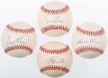 Autographs:Baseballs, Baseball Hall of Famers Single Signed Baseballs Lot of 4 - IncludesBanks, Killebrew, Robinson, & Schmidt. ...