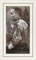 Boxing Collectibles:Autographs, Sugar Ray Leonard Signed Lithograph - Steven Holland LimitedEdition. ...