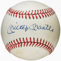 Autographs:Baseballs, Mickey Mantle Single Signed Baseball....