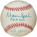 Autographs:Baseballs, 300 Wins Club Multi-Signed Baseball (8 Signatures). ...