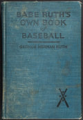 """Baseball Collectibles:Publications, 1928 """"Babe Ruth's Own Book of Baseball"""". ..."""