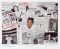 Baseball Collectibles:Others, Joe DiMaggio Signed Lithograph....
