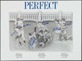 Autographs:Photos, Yankees Perfect Game Pitchers & Catchers Multi-SignedLithograph Limited to 200. ...