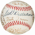 Baseball Collectibles:Balls, Hall of Fame Multi-Signed Baseball (26 Signatures)....