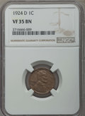 Lincoln Cents: , 1924-D 1C VF35 NGC. NGC Census: (73/435). PCGS Population:(212/1096). Mintage 2,520,000. ...