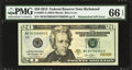 Error Notes:Mismatched Serial Numbers, Fr. 2097-E $20 2013 Federal Reserve Note. PMG Gem Uncirculated 66EPQ.. ...