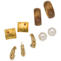 Estate Jewelry:Earrings, Multi-Stone, Gold Earrings . ... (Total: 4 Items)