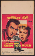 """Movie Posters:Hitchcock, The Man Who Knew Too Much (Paramount, 1956). Window Card (14"""" X22""""). Hitchcock.. ..."""