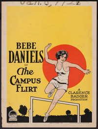 """The Campus Flirt (Paramount, 1926). Trimmed Window Card (14"""" X 18.5""""). Comedy"""