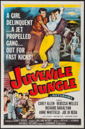 """Movie Posters:Crime, Juvenile Jungle & Other Lot (Republic, 1958). One Sheets (2)(27"""" X 41""""). Crime.. ... (Total: 2 Items)"""