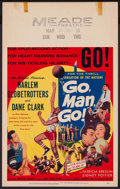 "Movie Posters:Sports, Go, Man, Go (United Artists, 1954). Window Card (14"" X 22""). Sports.. ..."