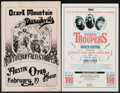 "Movie Posters:Rock and Roll, Ozark Mountain Daredevils & Other Lot (Austin Opry House,1978). Autographed Concert Window Card (11.5"" X 17.5"") &Concert W... (Total: 2 Items)"