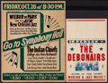 "Movie Posters:Musical, The Debonairs & Other Lot (Dore Records, 1950s). Stock Concert Window Card & Window Card (14"" X 22""). Musical.. ... (Total: 2 Items)"