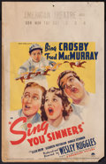 "Movie Posters:Musical, Sing You Sinners (Paramount, 1938). Window Card (14"" X 22""). Musical.. ..."