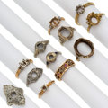 Estate Jewelry:Rings, Diamond, Multi-Stone, Platinum, Gold Semi-Mounts . ... (Total: 12 Items)