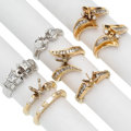 Estate Jewelry:Rings, Diamond, Platinum, Gold Semi-Mounts . ... (Total: 7 Items)