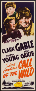 "Movie Posters:Adventure, Call of the Wild (20th Century Fox, R-1953). Insert (14"" X 36"").Adventure.. ..."