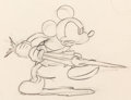 Animation Art:Production Drawing, Shanghaied Mickey Mouse Animation Drawing (Walt Disney,1934)....