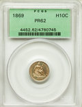 Proof Seated Half Dimes: , 1869 H10C PR62 PCGS. PCGS Population: (23/148). NGC Census: (12/167). Mintage 600. ...
