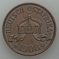 German East Africa, German East Africa: German Colony Pair of Early 20th CenturyCoins,... (Total: 2 coins)