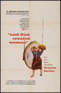 """Movie Posters:Foreign, And God Created Woman (Cocinor, 1956). One Sheet (27"""" X 41""""). Foreign.. ..."""