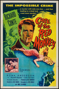 """The Case of the Red Monkey (Allied Artists, 1955). One Sheet (27"""" X 41""""). Mystery"""