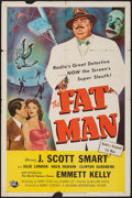 "Movie Posters:Mystery, The Fat Man (Universal International, 1951). One Sheet (27"" X 41"").Mystery.. ..."