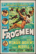 "Movie Posters:War, The Frogmen & Other Lot (20th Century Fox, 1951). One Sheets(2) (27"" X 41""). War.. ... (Total: 2 Items)"