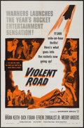 "Movie Posters:Adventure, Violent Road (Warner Brothers, 1958). One Sheet (27"" X 41"") &Lobby Card Set of 8 (11"" X 14""). Adventure.. ... (Total: 9 Items)"