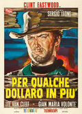 "Movie Posters:Western, For a Few Dollars More (PEA, 1965). Italian 2 - Fogli (39.5"" X 55"") Rodolfo Gasparri Artwork.. ..."