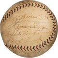 Baseball Collectibles:Balls, 1928 New York Giants Team Signed Baseball with Mel Ott. ...