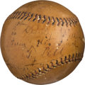 Autographs:Baseballs, 1920's Ty Cobb Signed Baseball -- Displays as a Single....